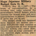 Northwest History. Box 11. Japan Int-New. Military Affairs.