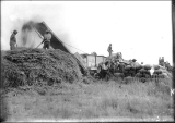 Threshing at Willie Nampioya (fall) Ditto at Ino Galar's Nespelem Dist, 1914.